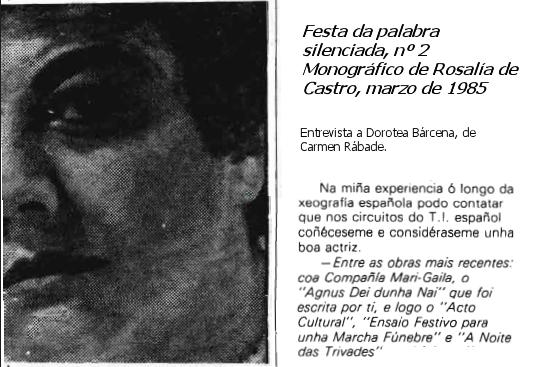 Lembranza de Dorotea Bárcena